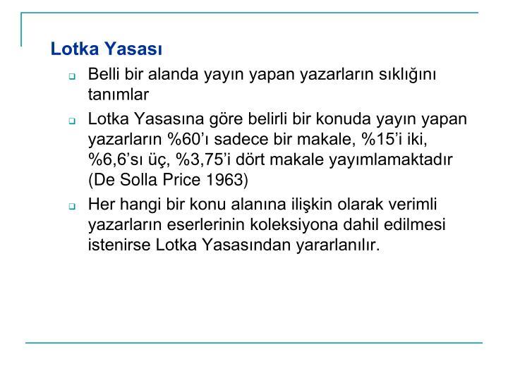 Lotka Yasas