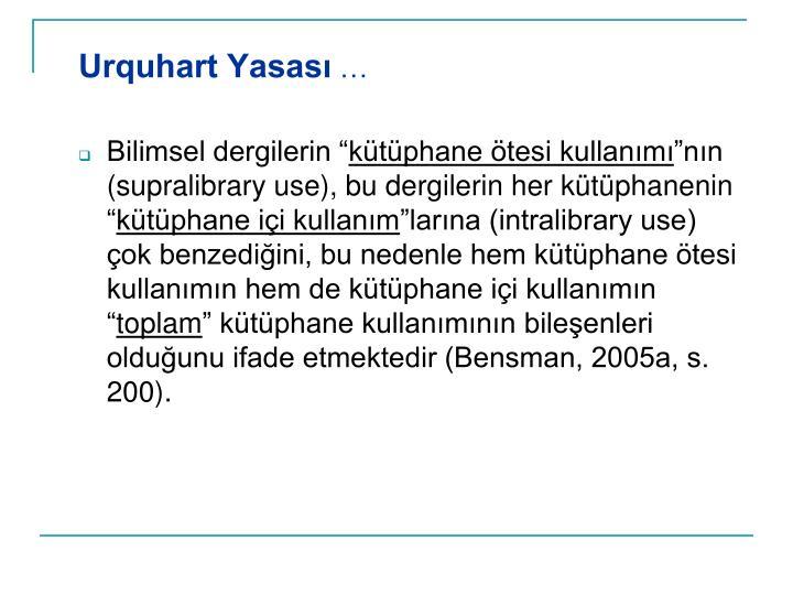 Urquhart Yasası