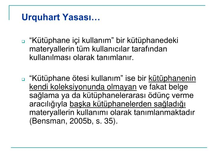 Urquhart Yasası…