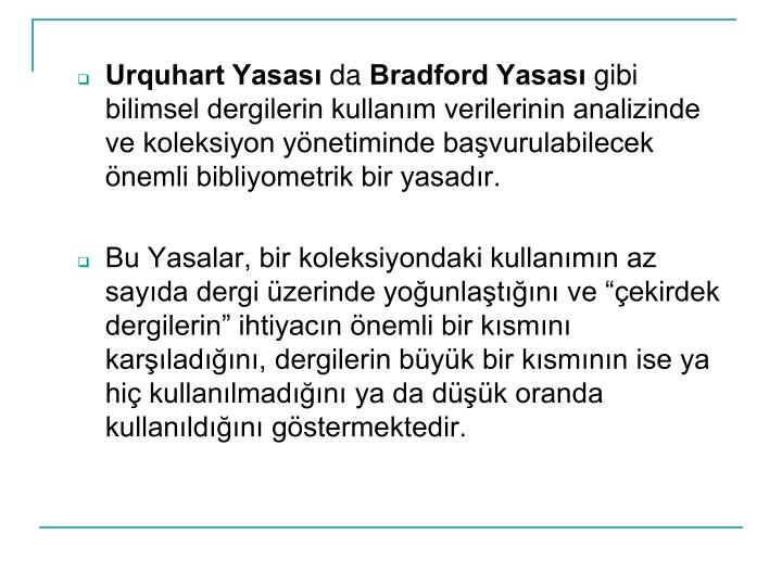 Urquhart Yasas