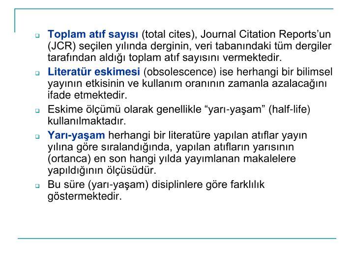Toplam atf says