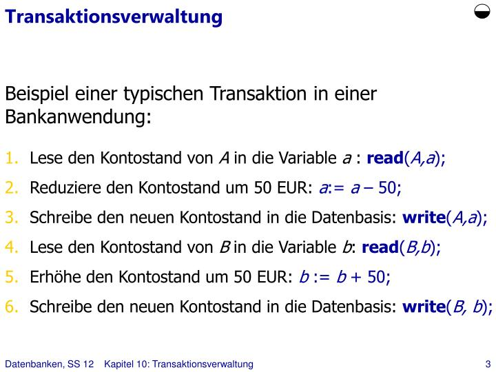 Transaktionsverwaltung
