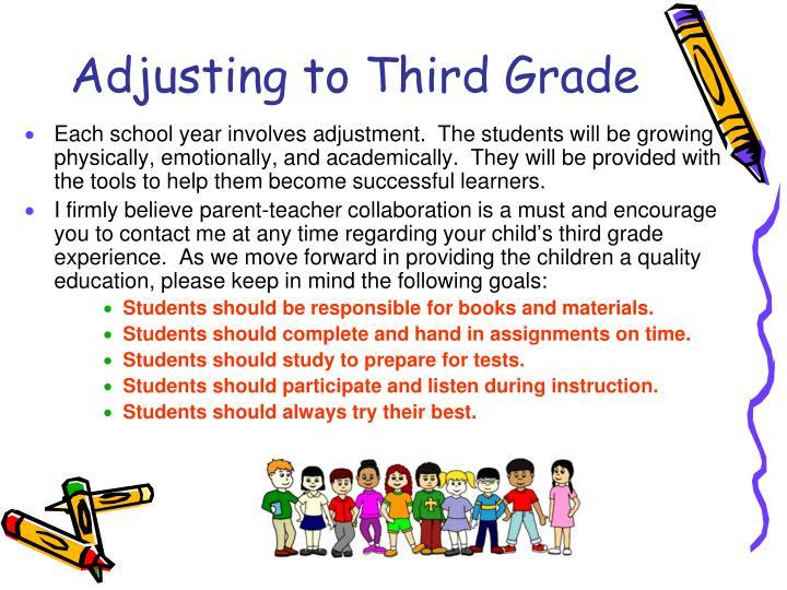 Adjusting to Third Grade
