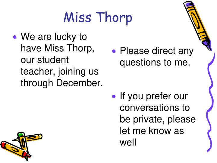 Miss Thorp