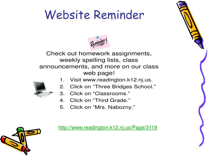 Website Reminder