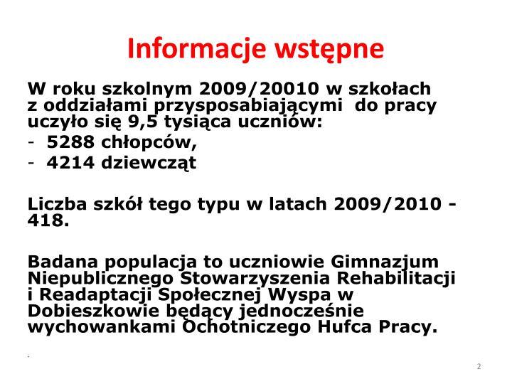 Informacje wstępne