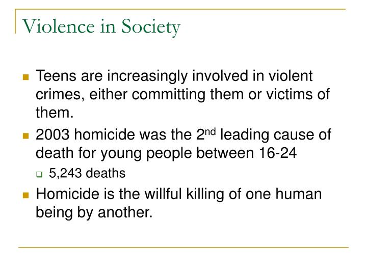 Violence in Society
