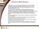 access to justice services
