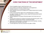core functions of the department