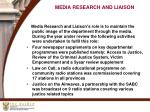 media research and liaison