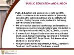 public education and liaison