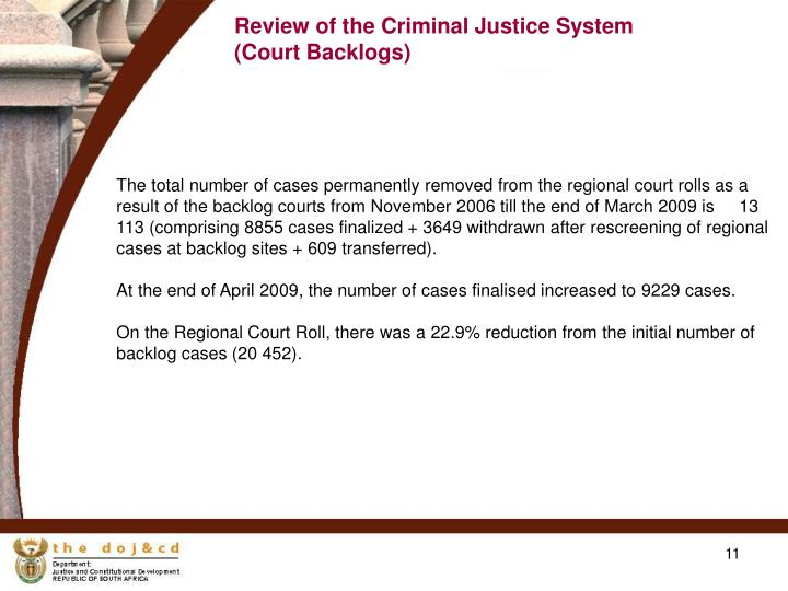 Review of the Criminal Justice System