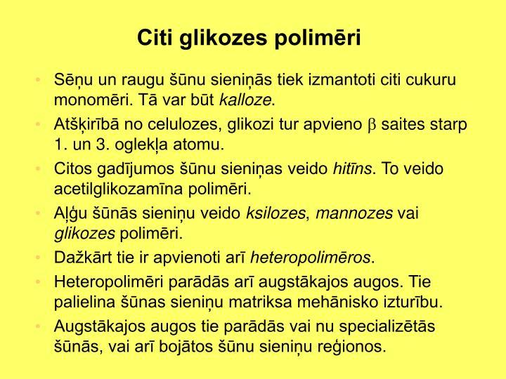 Citi glikozes polimēri