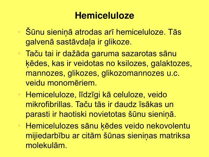 Hemiceluloze