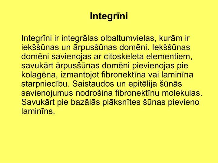 Integrīni
