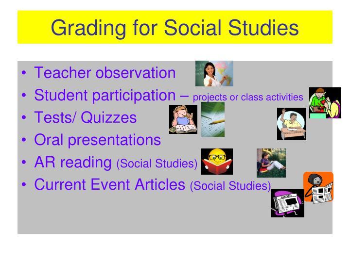Grading for Social Studies