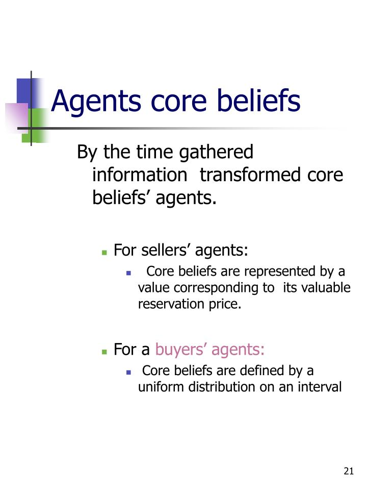 Agents core beliefs
