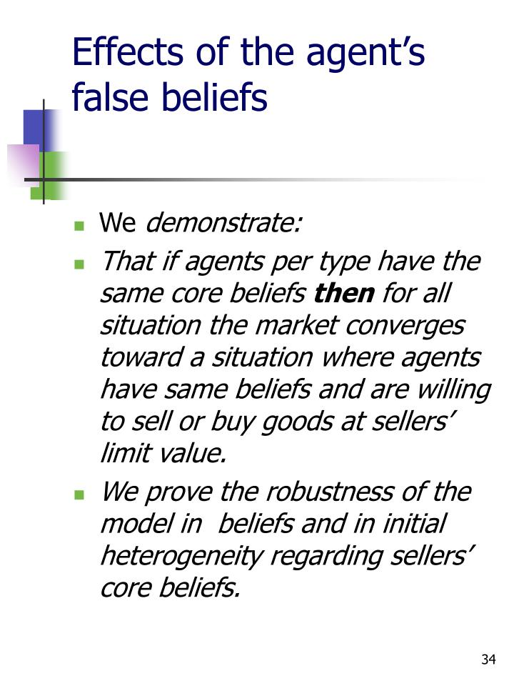 Effects of the agent's false beliefs