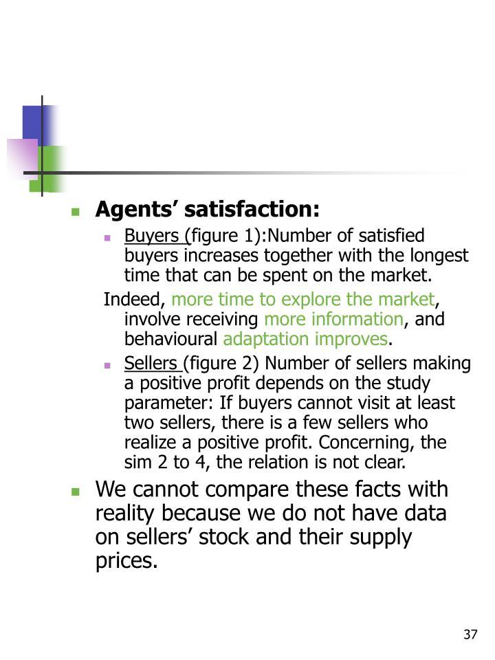 Agents' satisfaction: