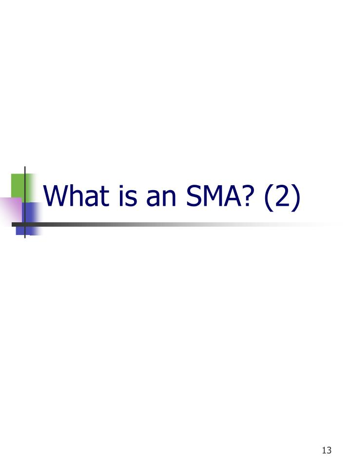 What is an SMA? (2)