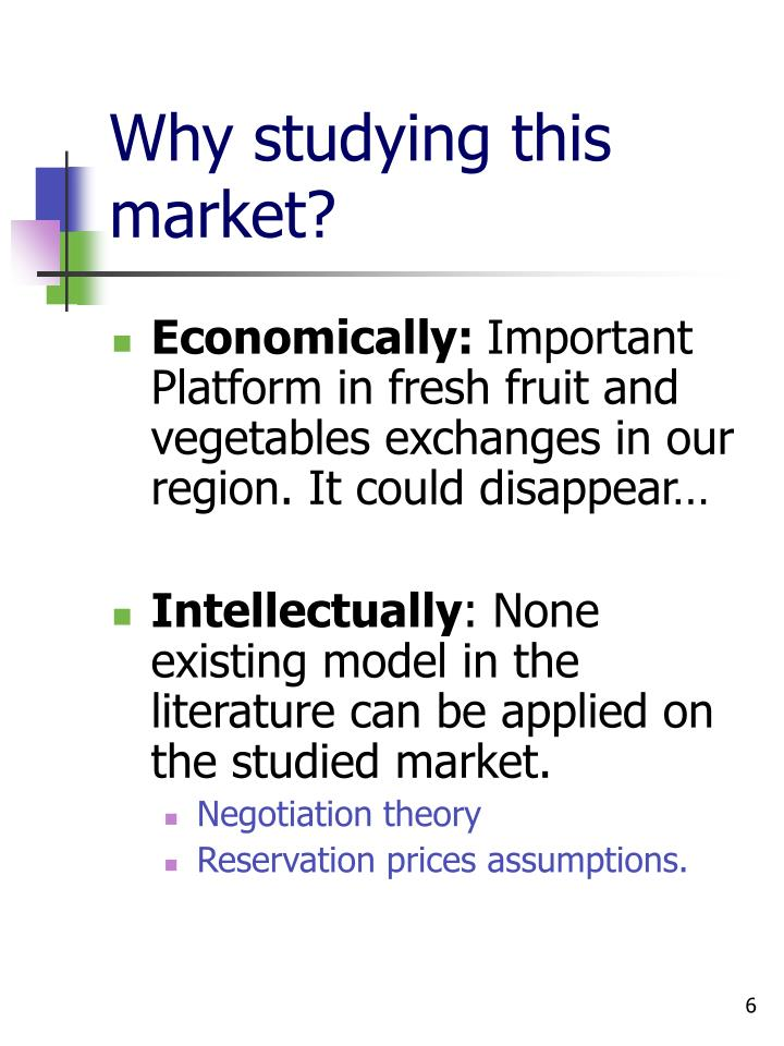 Why studying this market?
