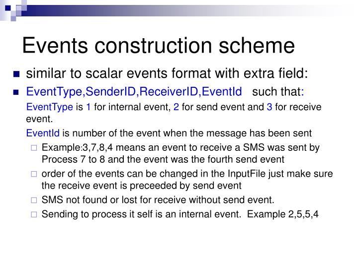 Events construction scheme