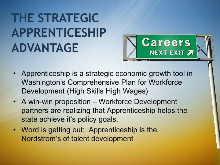 THE STRATEGIC APPRENTICESHIP
