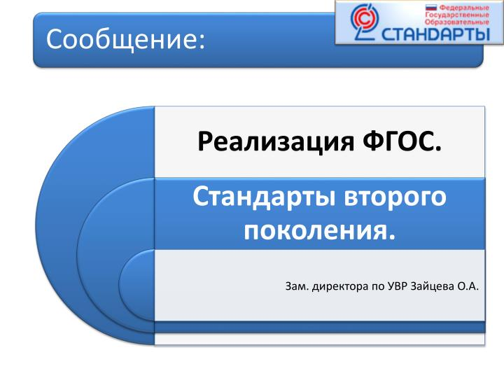 Зам. директора по УВР