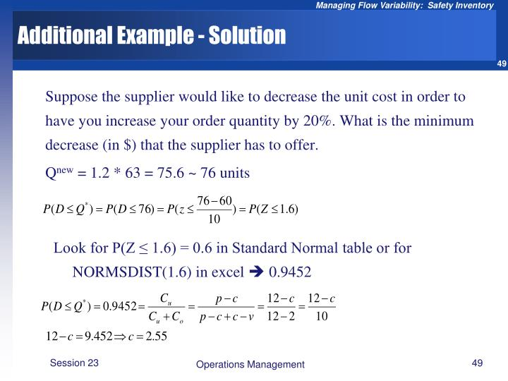 Additional Example - Solution