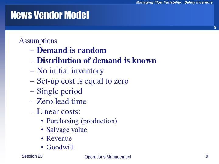 News Vendor Model
