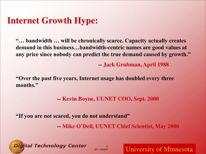 Internet Growth Hype: