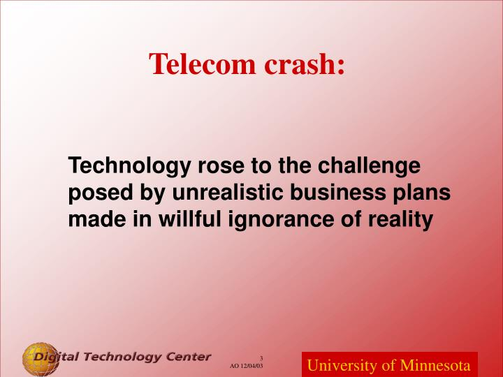 Telecom crash: