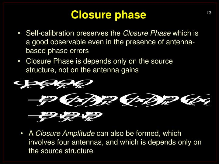 Closure phase