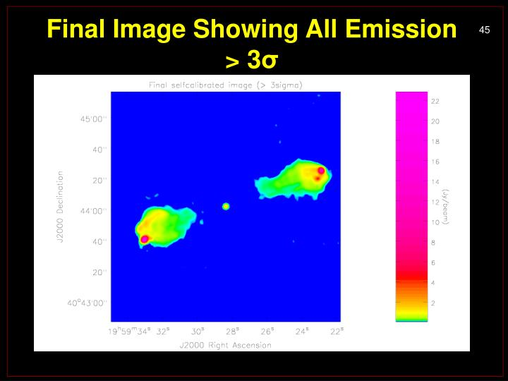 Final Image Showing All Emission > 3
