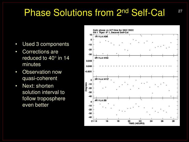 Phase Solutions from 2