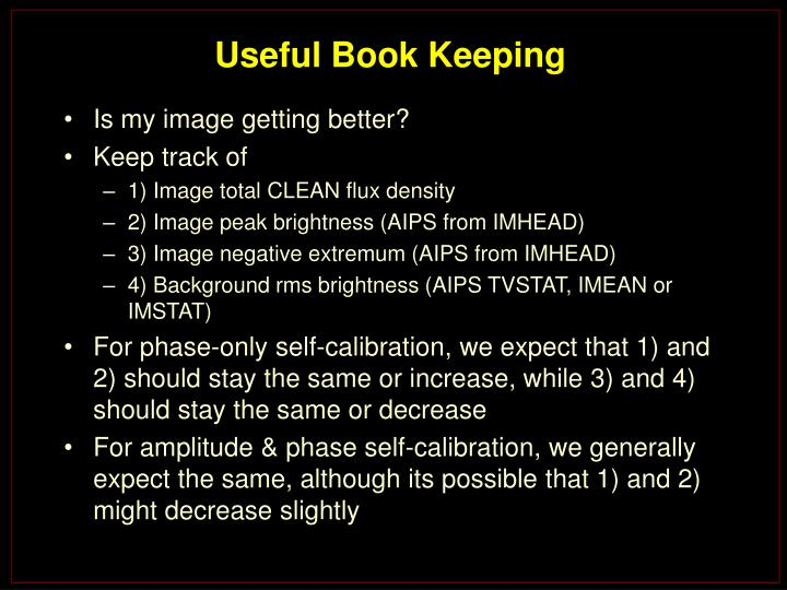 Useful Book Keeping