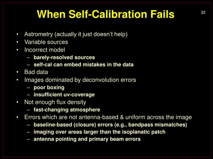 When Self-Calibration Fails