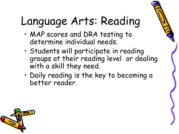 Language arts reading