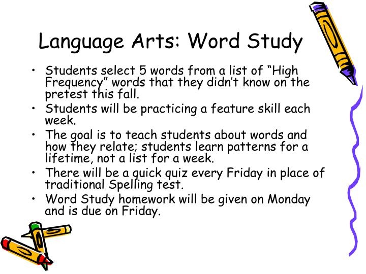 Language Arts: Word Study
