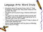language arts word study