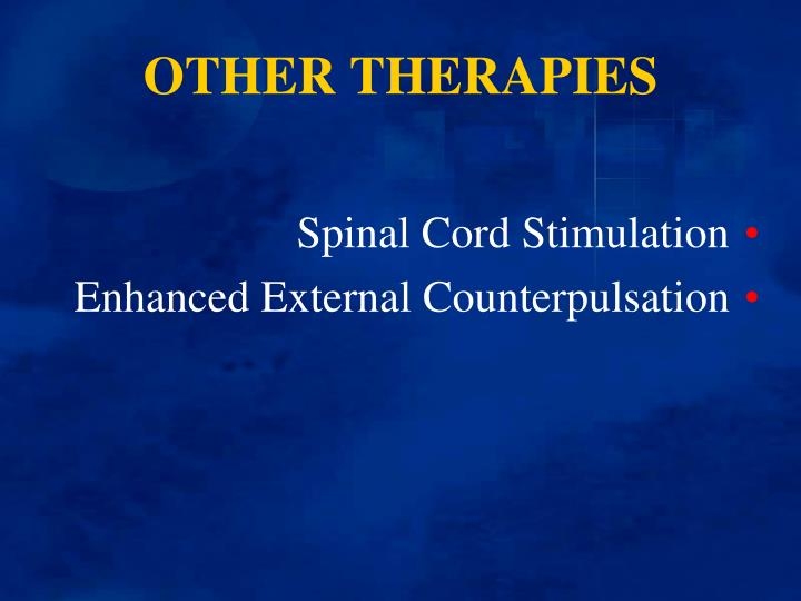 OTHER THERAPIES