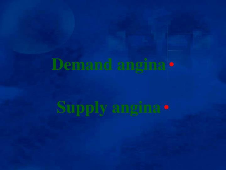 Demand angina