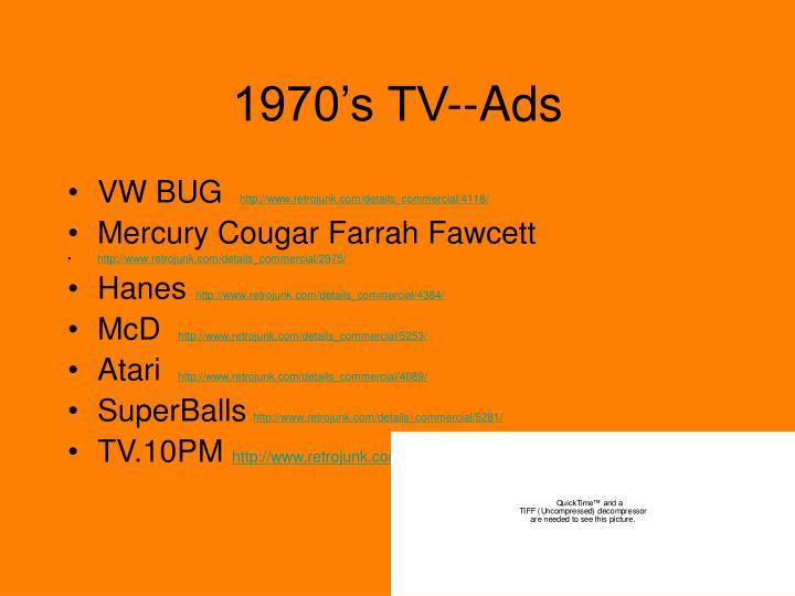 1970's TV--Ads