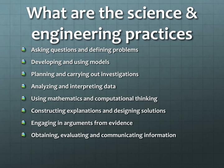What are the science & engineering practices