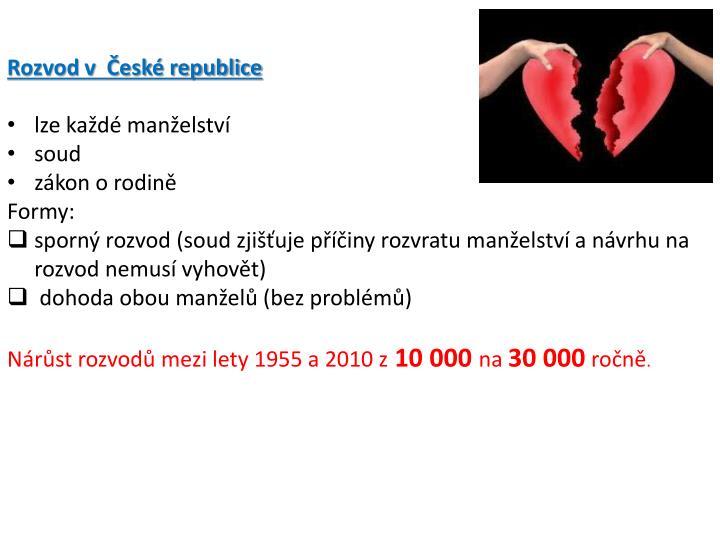 Rozvod v  České republice