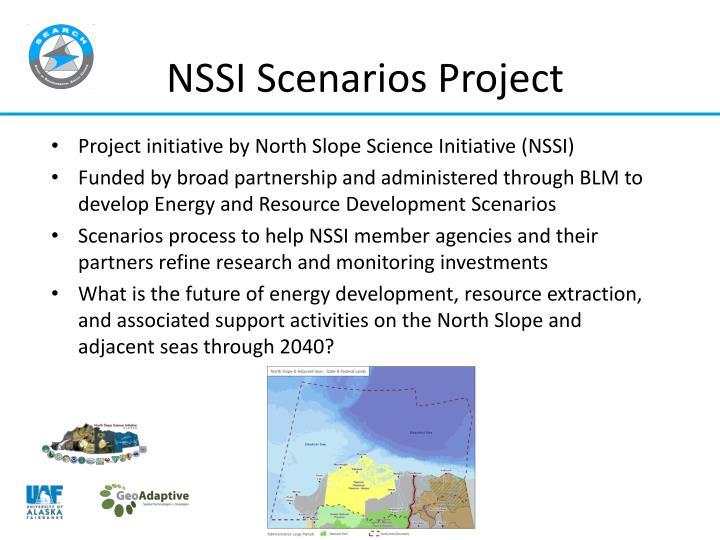 NSSI Scenarios Project