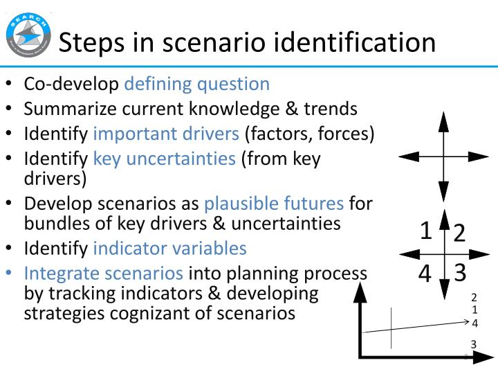 Steps in scenario identification