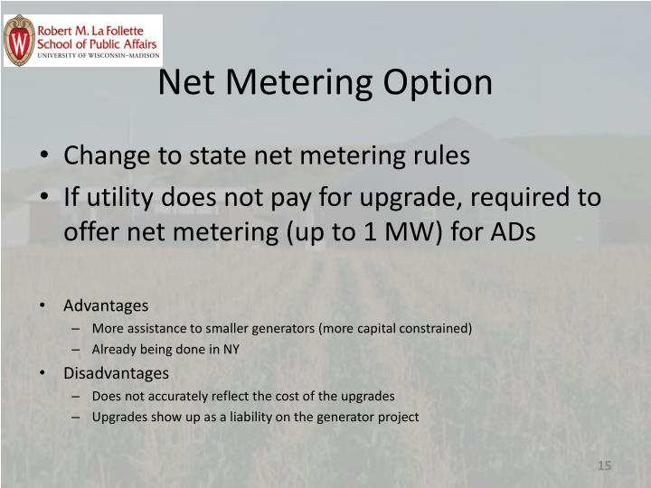 Net Metering Option