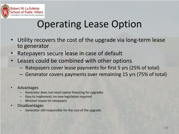 Operating Lease Option