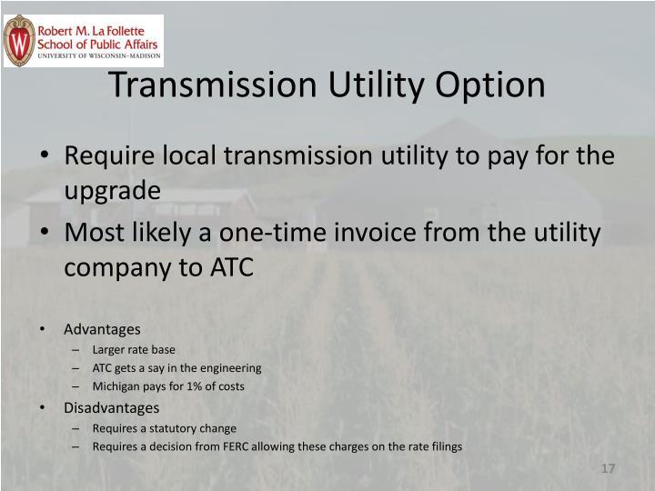 Transmission Utility Option